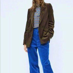 Zara Women Corduroy Blazer Boyfriend Oversized XL